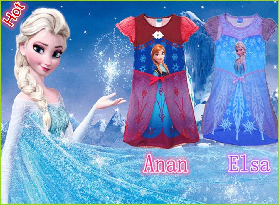 5dc31998a2e7 Hot sale Frozen dress Elsa s Anna s Girl dress Baby Summer Princess Dresses  Girl s Cartoon Skirt Children s Clothes Kids Wear