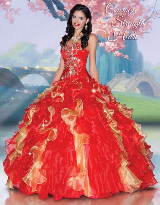Disney Royal Ball Quinceanera Dress Mulan Style 41048 | Quinceanera ...