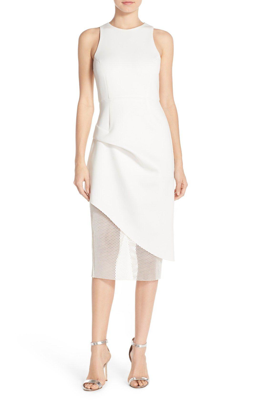Elliatt Tiered Stretch Midi Dress Nordstrom Stretch Midi Dress Dresses White Dresses For Women [ 1687 x 1100 Pixel ]