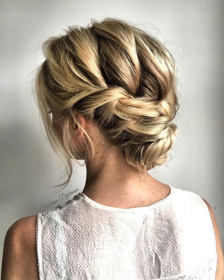 Updo Hairstyle Romantic Wedding Hairstyles To Inspire You  Elegant Updo Bridal
