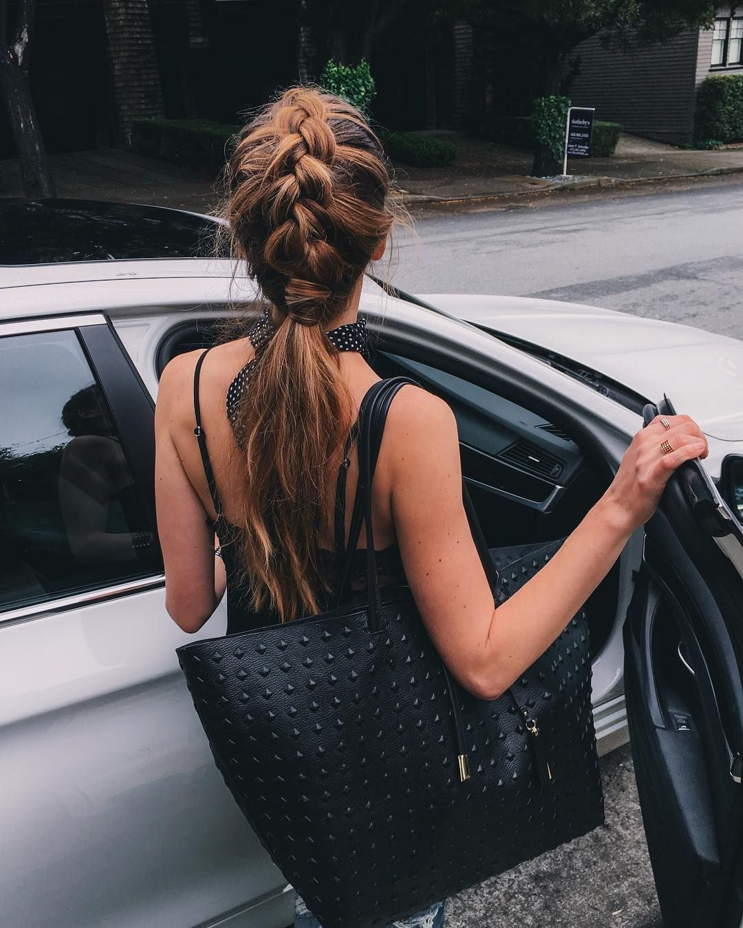 Messy braid for messy weather #messybraids Messy braid for messy weather #messybraids