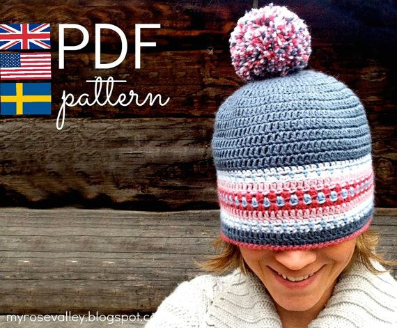 CROCHET pattern - Nordic Hat - Pdf crochet pattern - US, UK and ...