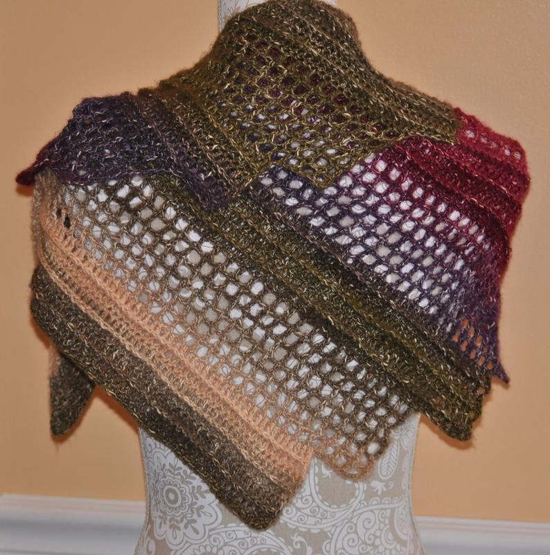 Crochet Wingspan Wrap Open Weave Style Shoulder Cover ...