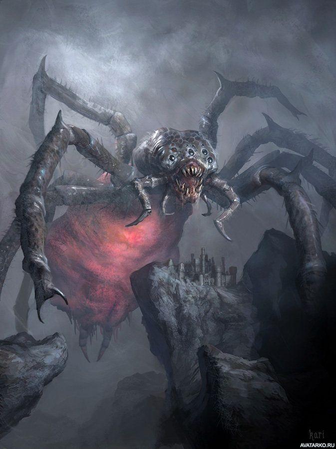 Огромный паук нападает на замок — Скачать картинки ...