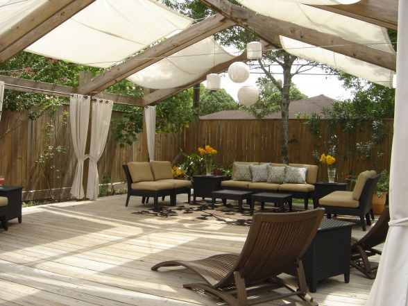 Backyard Oasis Ideas Pictures lighting outdoors Relaxing Backyard Oasis Outdoor Living Space Makes You Feel Like You Are In A Far