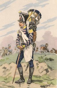 Tambour des Chasseurs d'Infanterie légère (1812)