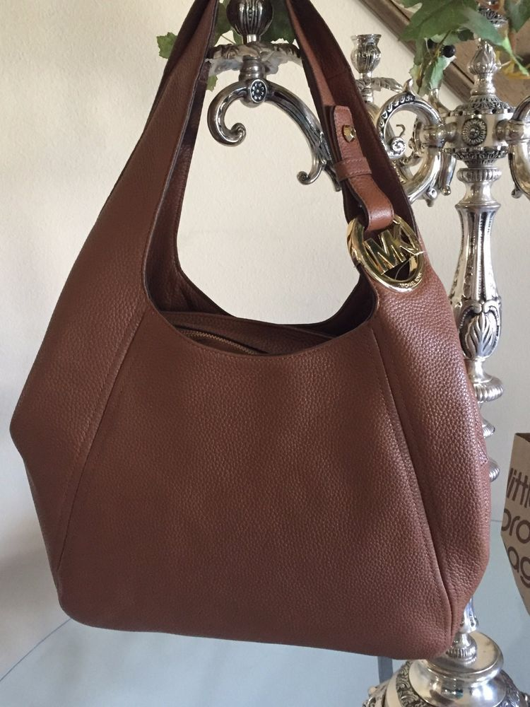 c96ac725f1610d ... norway nwt michael kors large leather luggage fulton shoulder tote  retails 398.00 michaelkors totesshoppers 5609f 680ec