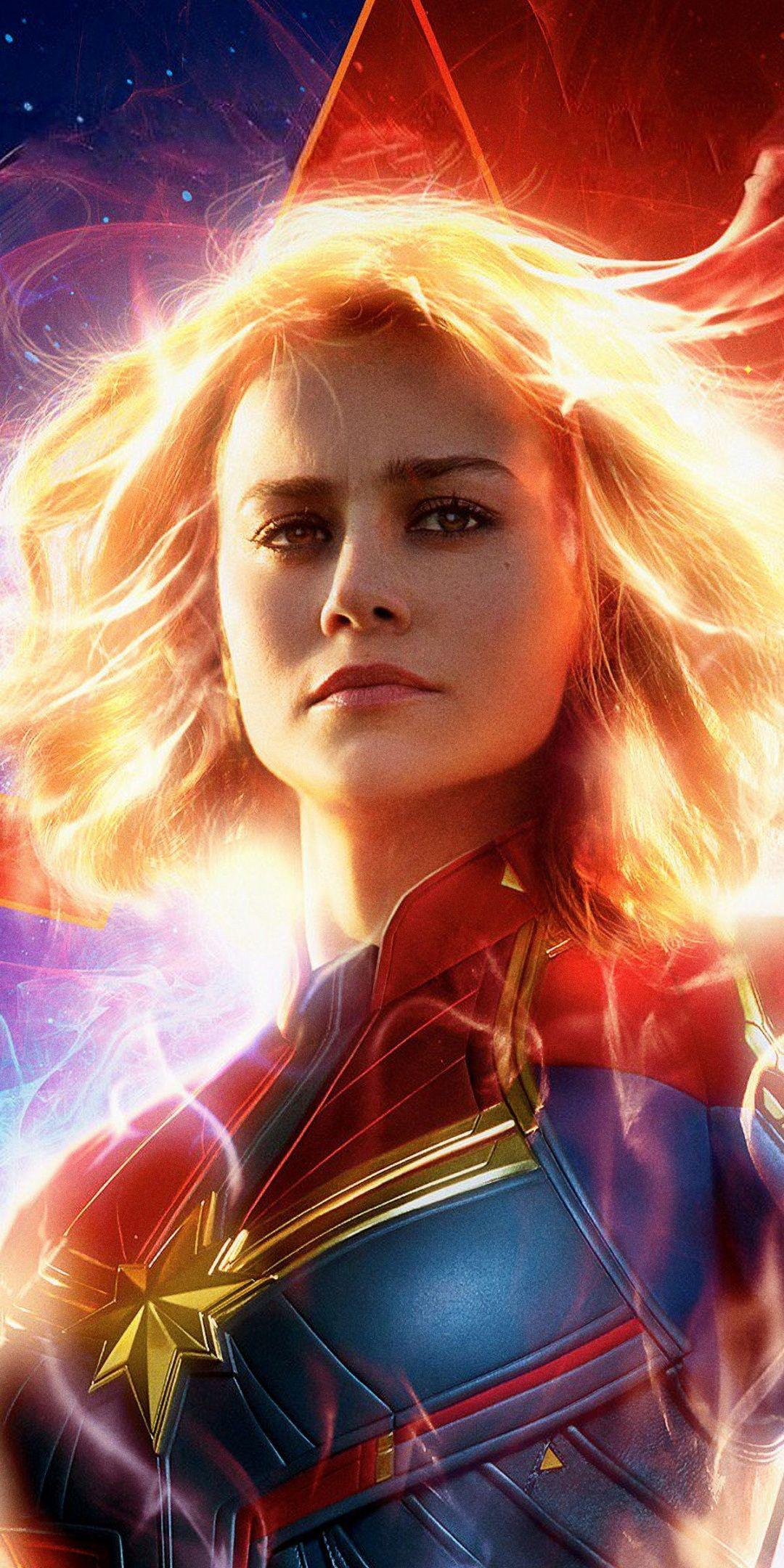 Captain Marvel Brie Larson 2019 1080x2160 Wallpaper Celebrity