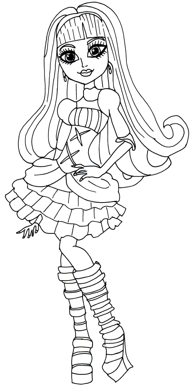 monster high coloring pages elissabat - Google Search | coloring ...