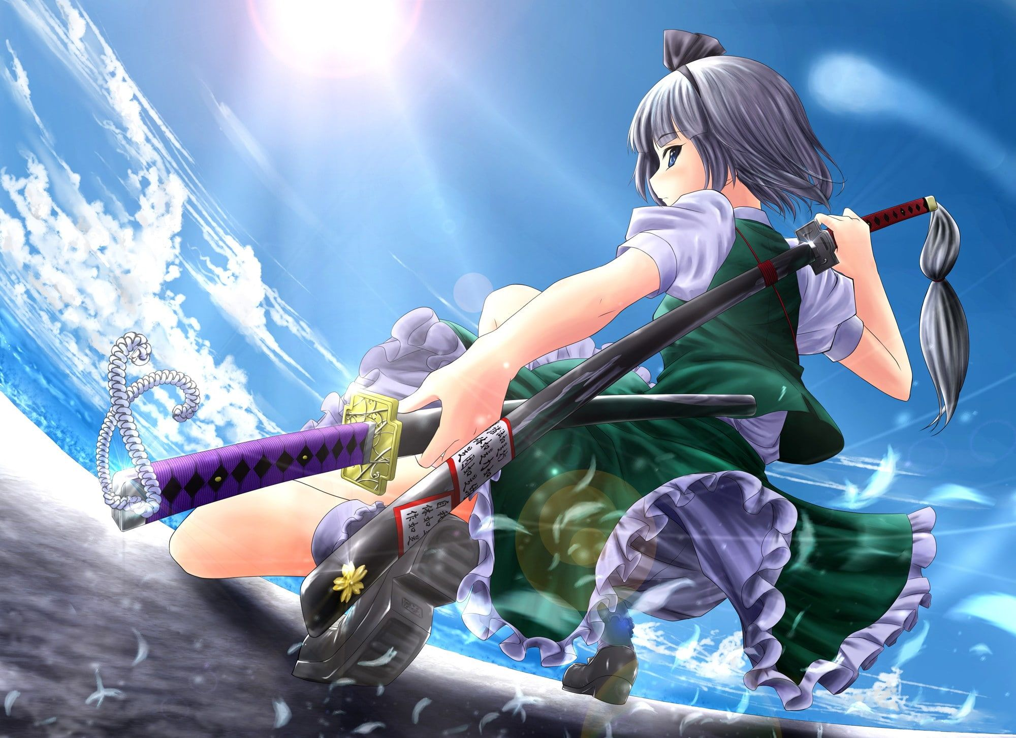 Anime Girls Sword Touhou Konpaku Youmu 1080p Wallpaper