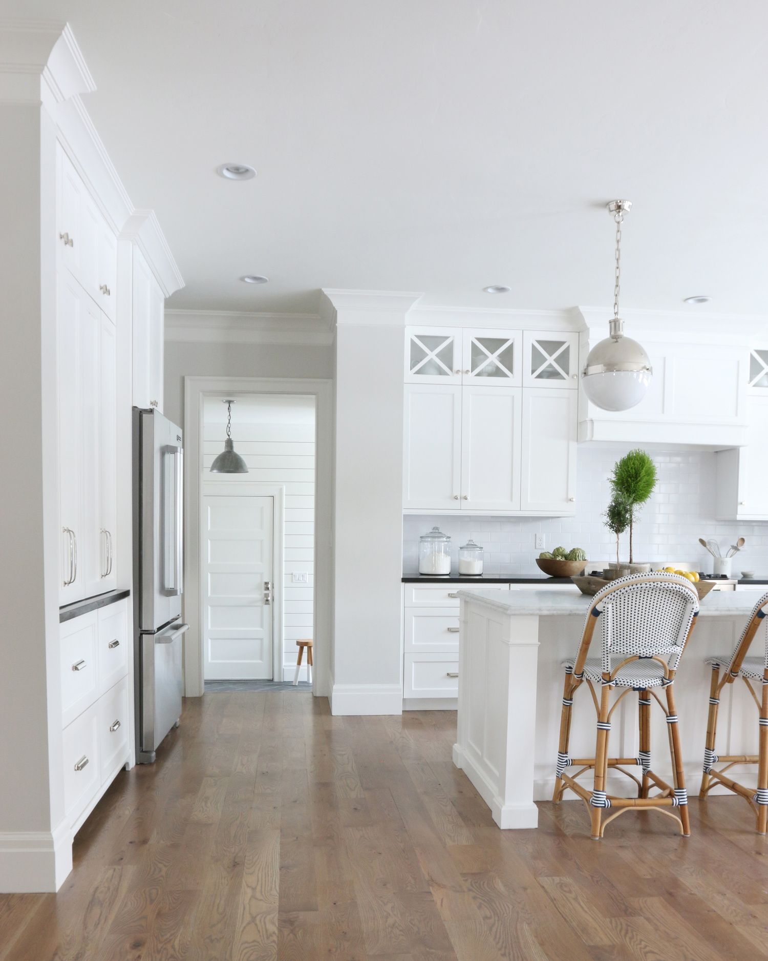 The midway house kitchen benjamin moore classic gray for Warm grey interior paint