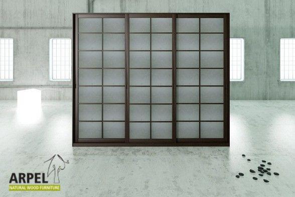 Schrank Shoji 300 cm mit Reispapier-Schiebetüren Home Pinterest - kleiderschrank schiebeturen stauraumwunder