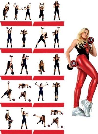 Упражнения с гантелями для похудения рук | Упражнения ...