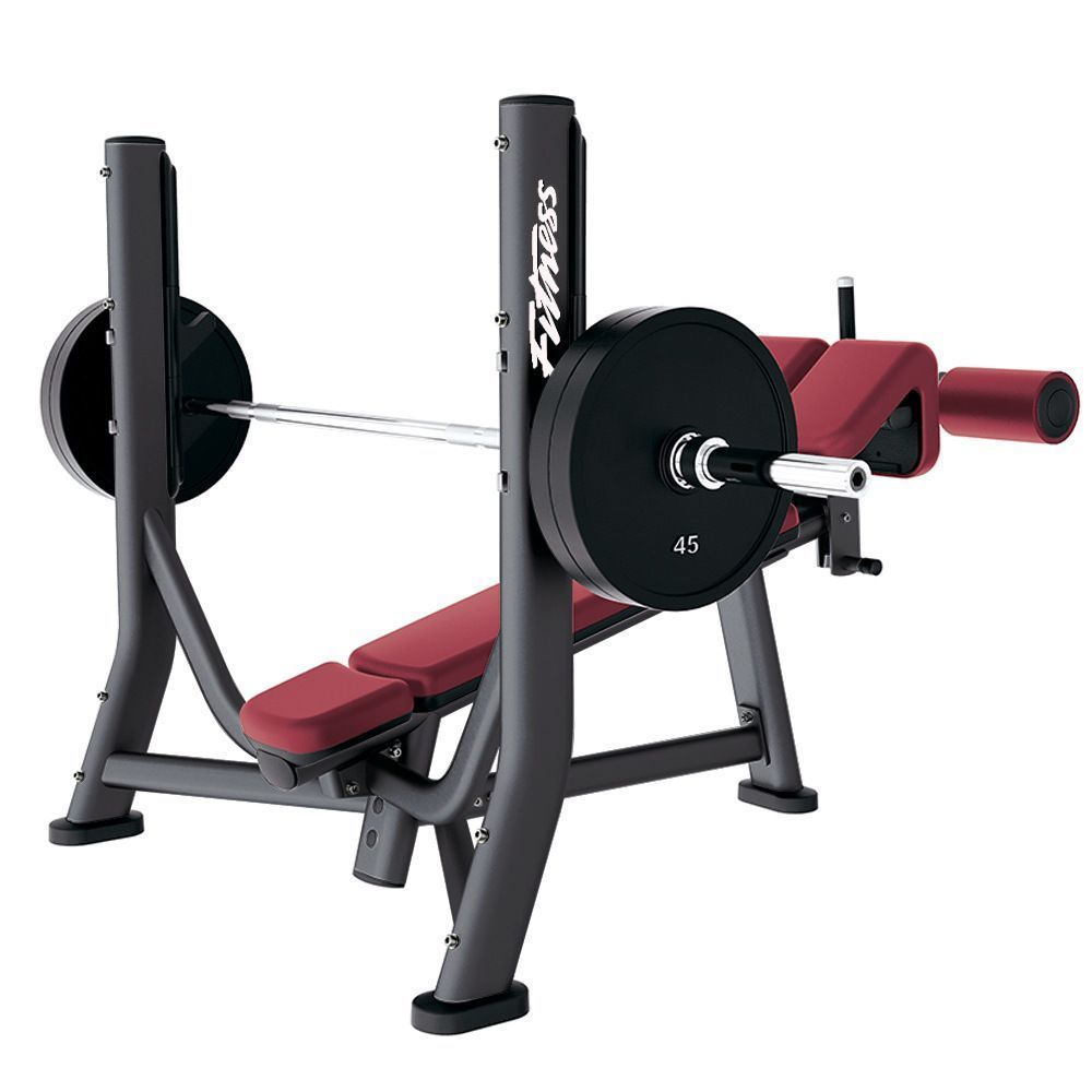 The Life Fitness Signature Series Olympic Decline Bench Offers An Olympic Style Decline Bench With Molded Urethane Protect At Home Gym No Equipment Workout Gym