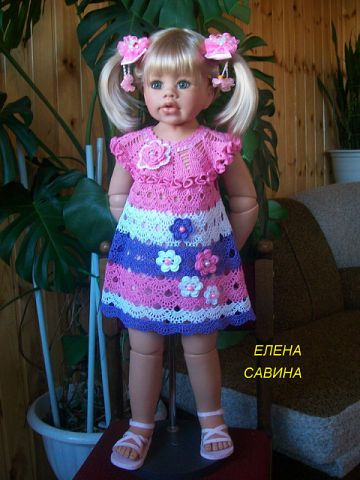 Cute dress for a doll with diagram