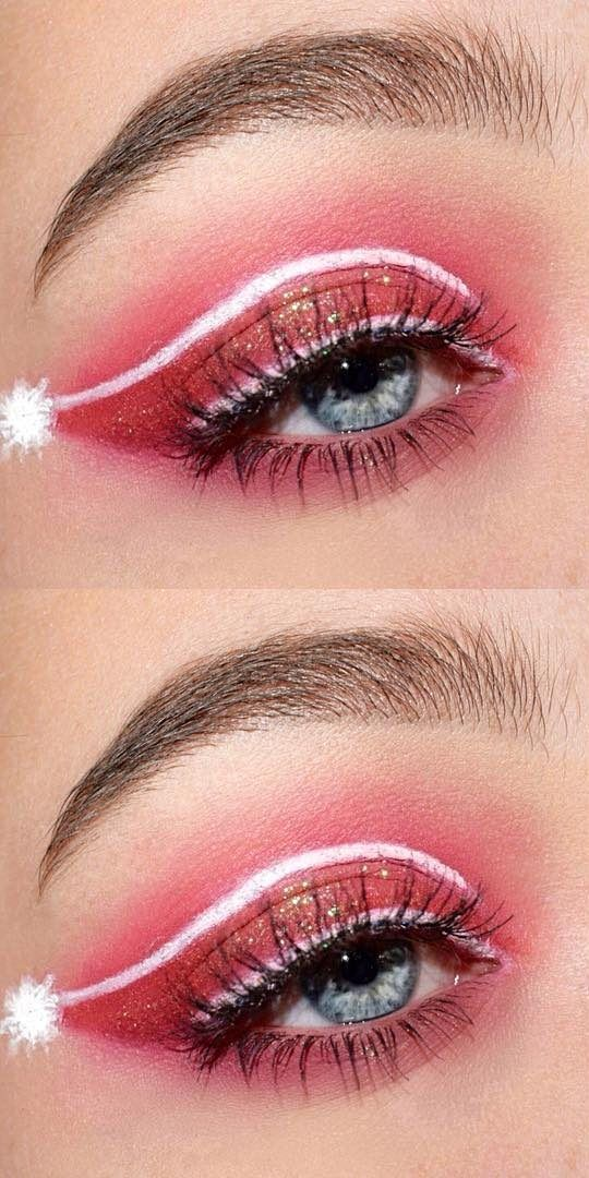 Easy And Beauty Christmas Makeup Look Ideas And Images For 2019 Page 17 Of 47 Ladiesways Com Women Hairstyles Blog Christmas Eye Makeup Christmas Makeup Look Christmas Makeup Simple