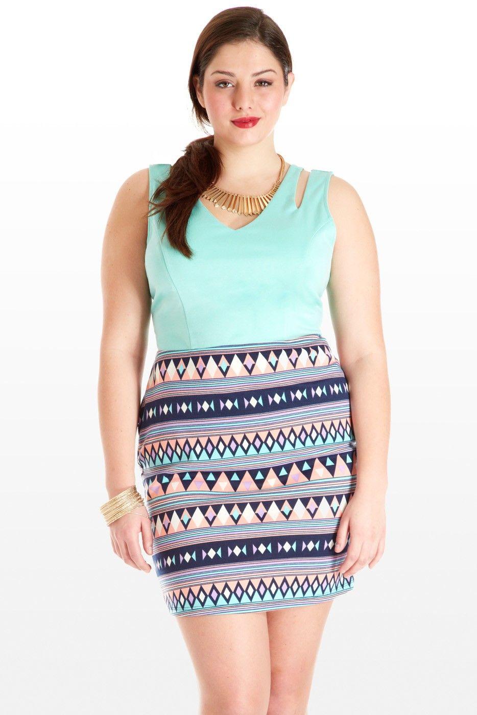 Trends 2013: Pastels & Prints -Cut the Line Geometric Print Dress ...