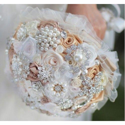 Luxury Customized Brooch Bouquet Lux 005 Bridal Brooch Bouquet