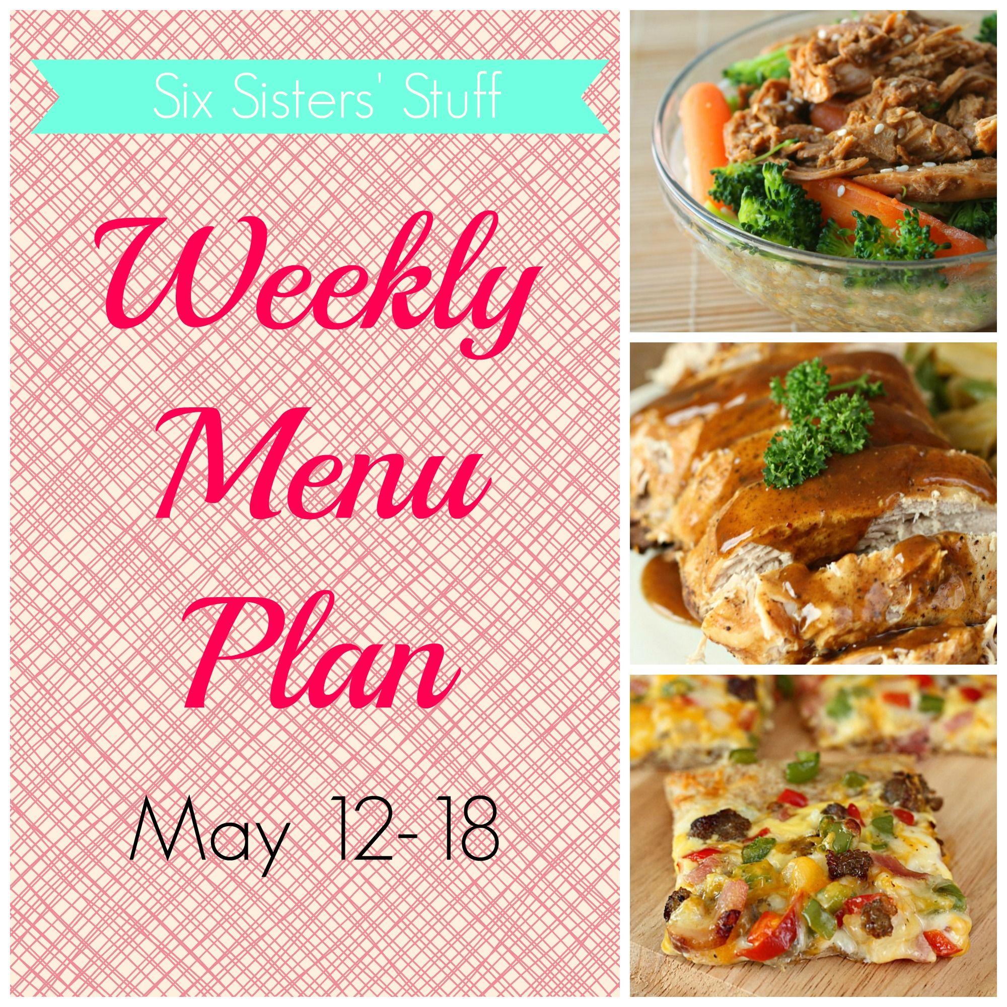 Weekly Menu Plan May 12-18