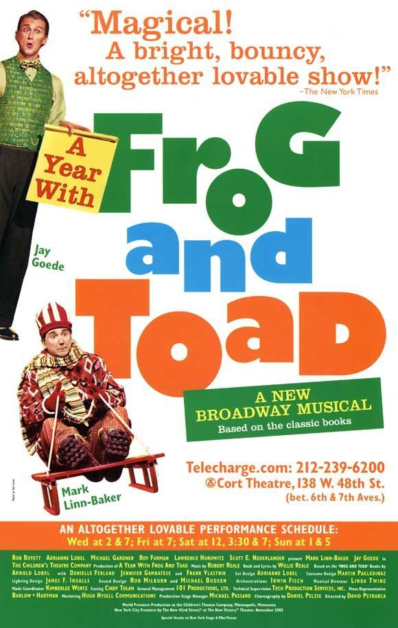 A Year With Frog And Toad 11x17 Broadway Show Poster Broadway