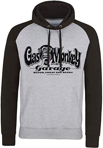 Buy Gas Monkey Garage Officially Licensed Logo Baseball Hoodie online - Thetophitsseller #gasmonkeygarage