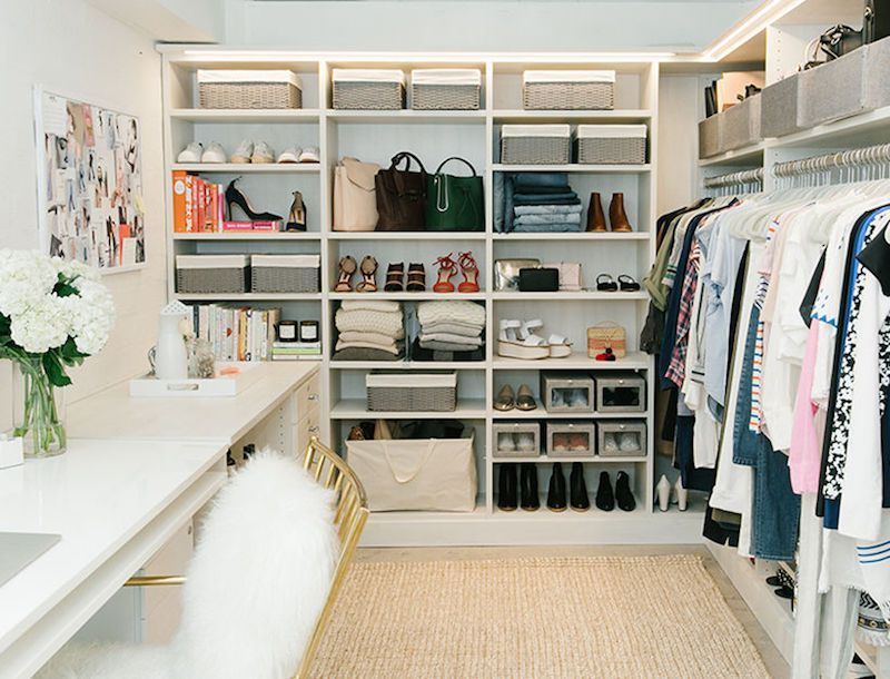 White Walk In Closet walk in closets white desk chair wardrobe | tkd: closets