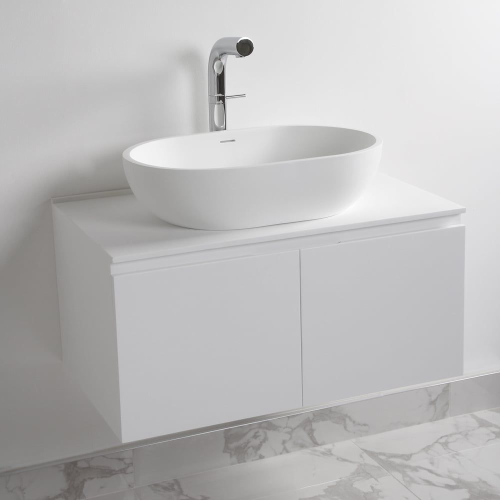 Bathroom vanity basin - Lusso Stone Luxor Bathroom Vanity Basin Cabinet 800 Vanity Units