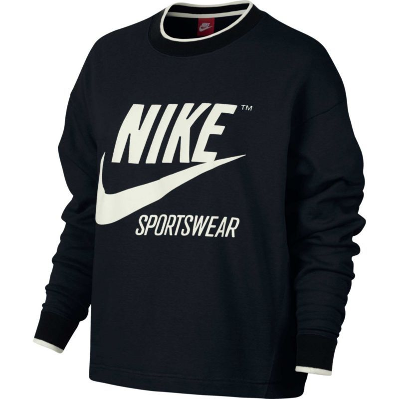 Nike Women's Sportswear Archive Crewneck Sweatshirt, Size