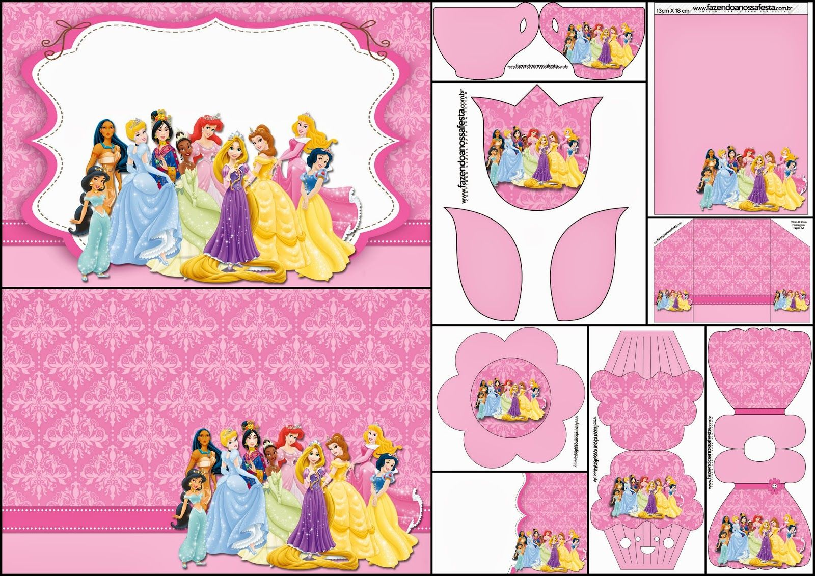 Disney Princess Pary: Free Printable Party Invitations. | Disney ...