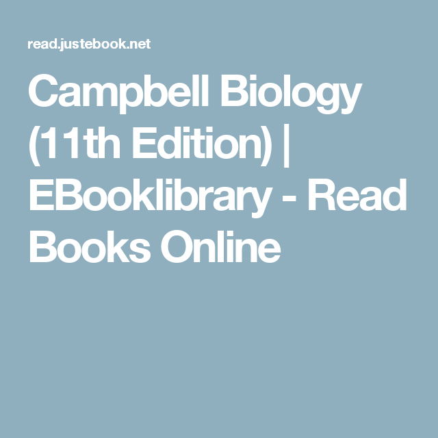 Campbell Biology (11th Edition) | EBooklibrary - Read Books Online