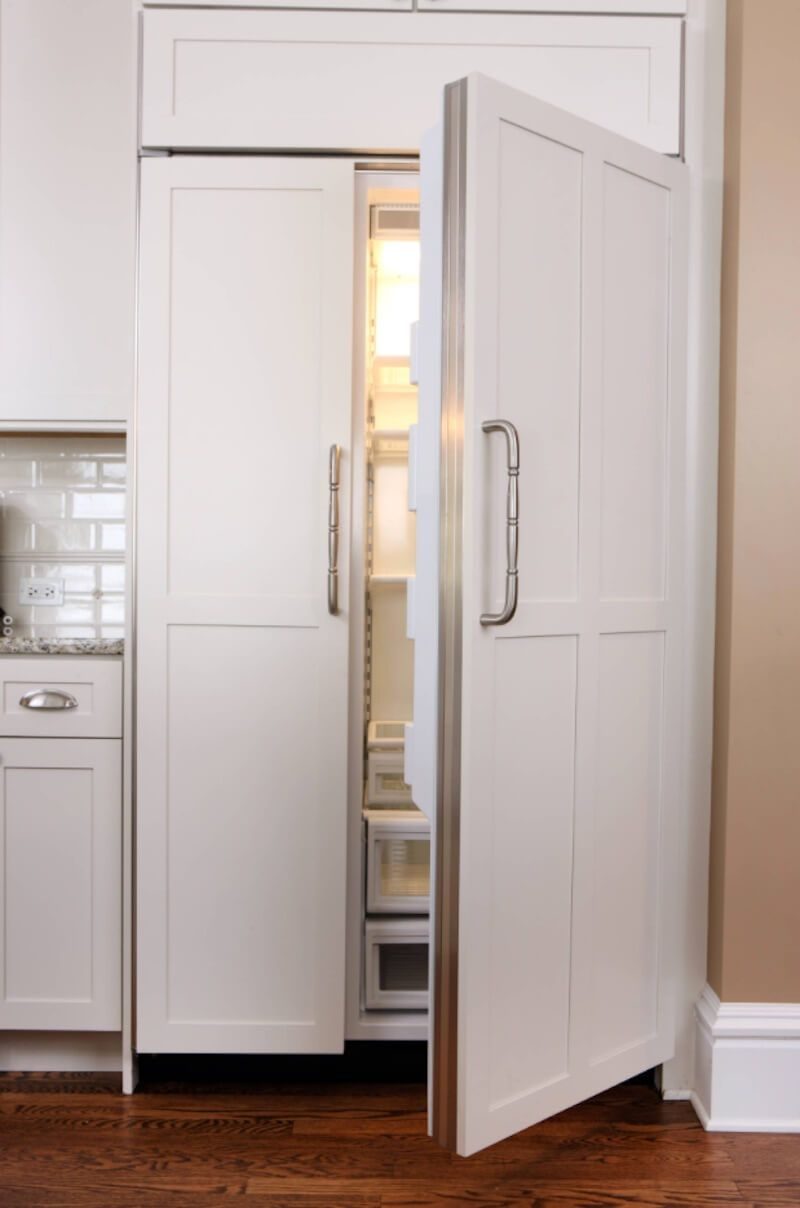 5 After Holiday Cleaning Tips To Get A Renewed Home Freshome White Paneling Kitchen Styling Refrigerator Panels