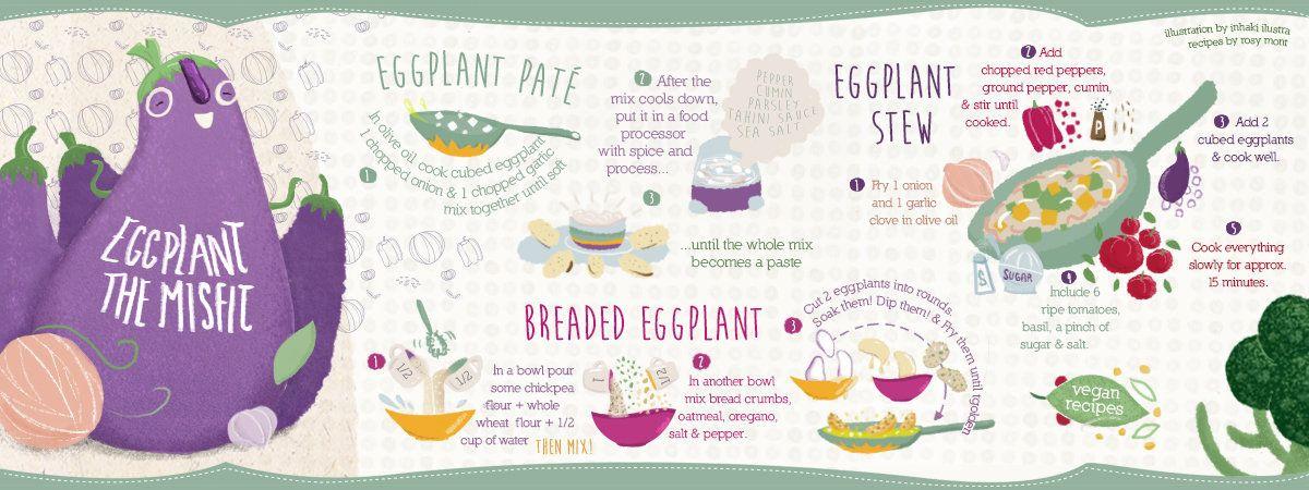 Eggplant The Misfit By Ignacio Inhaki Food Illustration Art Eggplant Food Art