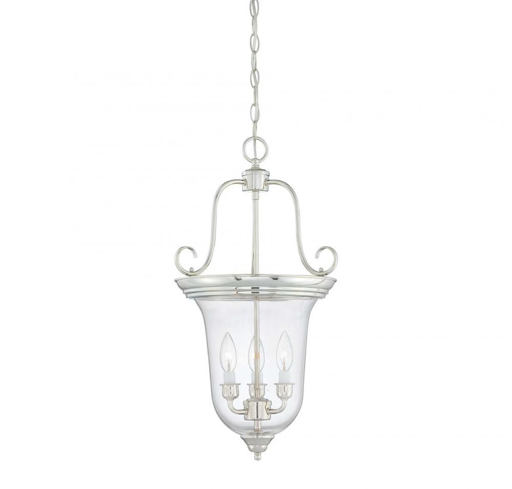 Polished Nickel Foyer Hall Pendant : 1FNTK | Wolfe Lighting & Accents $216