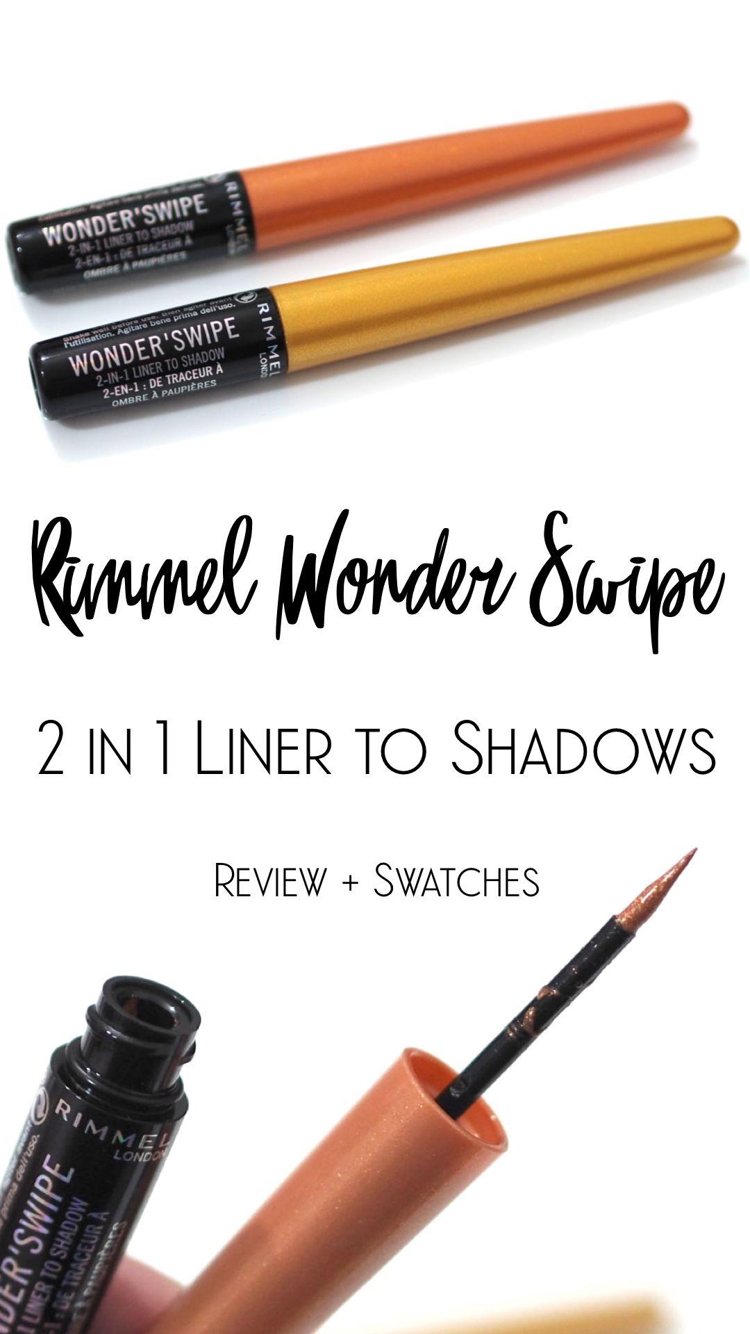 Rimmel Wonder Swipe 2 In 1 Liner To Shadow Review