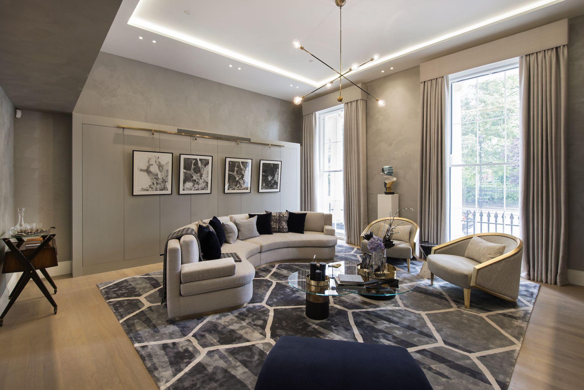 1508 London Park Crescent  Luxury Interior Design, Living Room