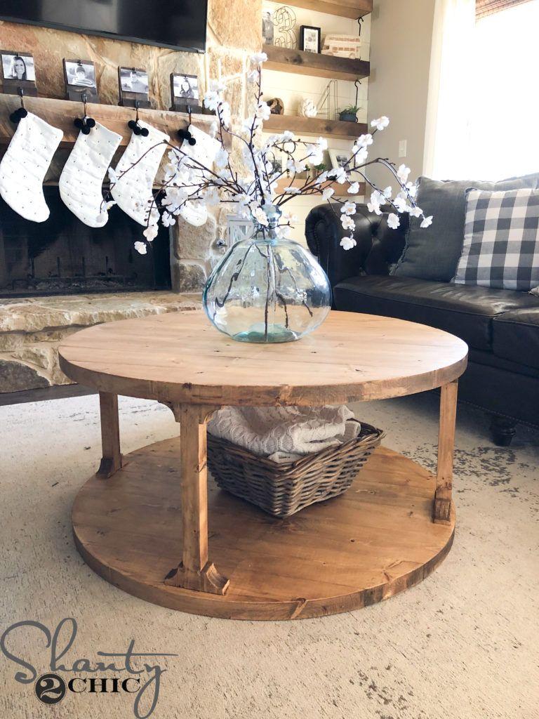 DIY Round Coffee Table Decorating coffee tables, Diy