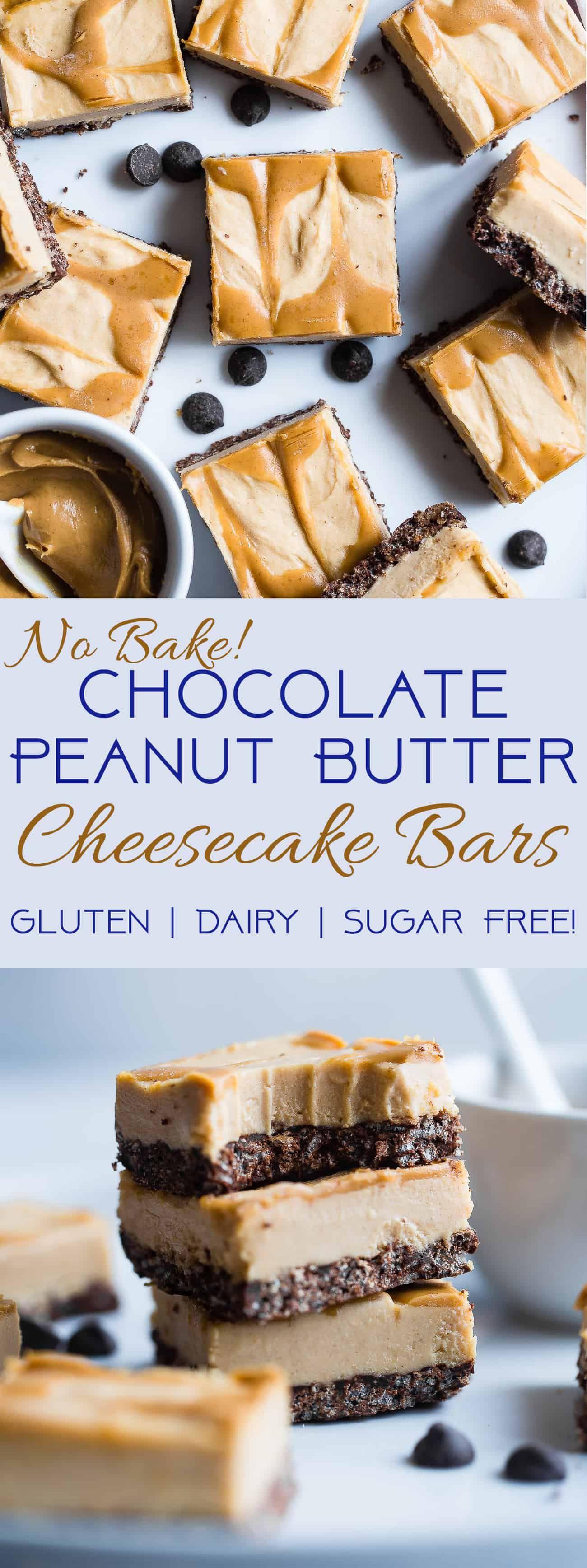 Dairy and gluten free no bake peanut butter cheesecake