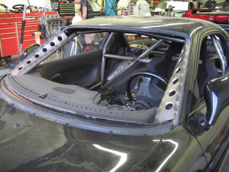 Roll Cage And A Pillar Supports And Strengthening With Dimple Dies Roll Cage Car Projects Chassis Fabrication