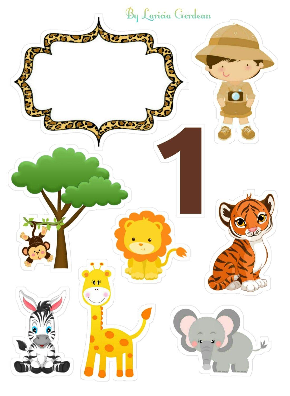 Topo De Bolo Safari Com Imagens Bolo Tema Safari Festa De