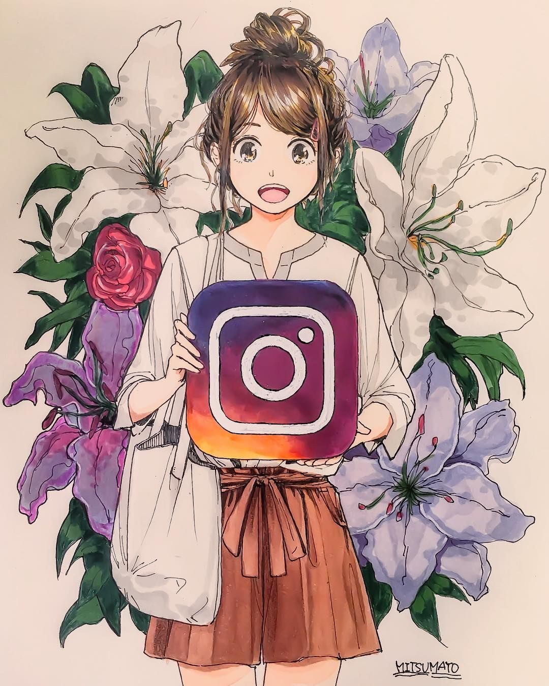 Flower sketch สเกต pinterest flower sketches sketches and anime
