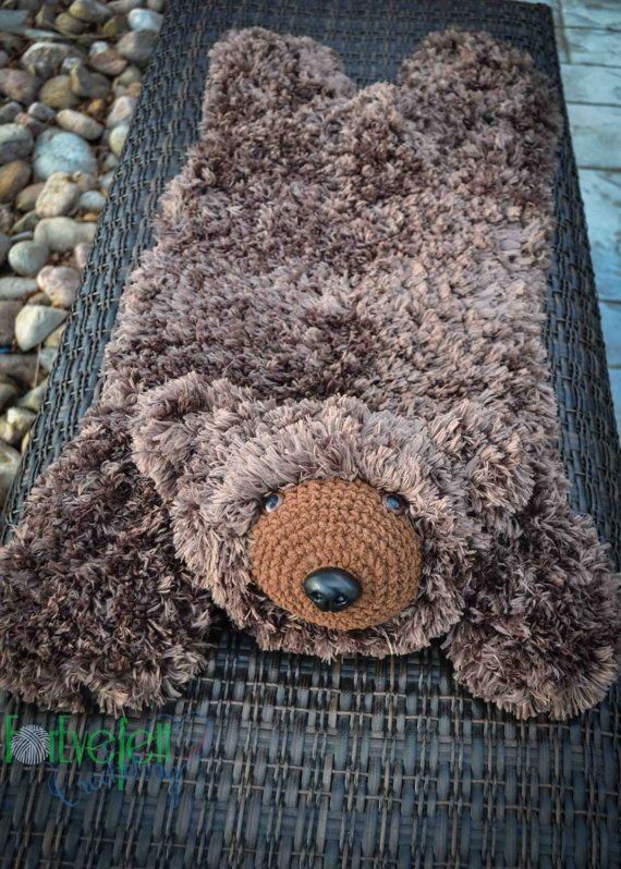Crochet Pattern For Faux Bear Skin Nursery Rug Or Photo Prop