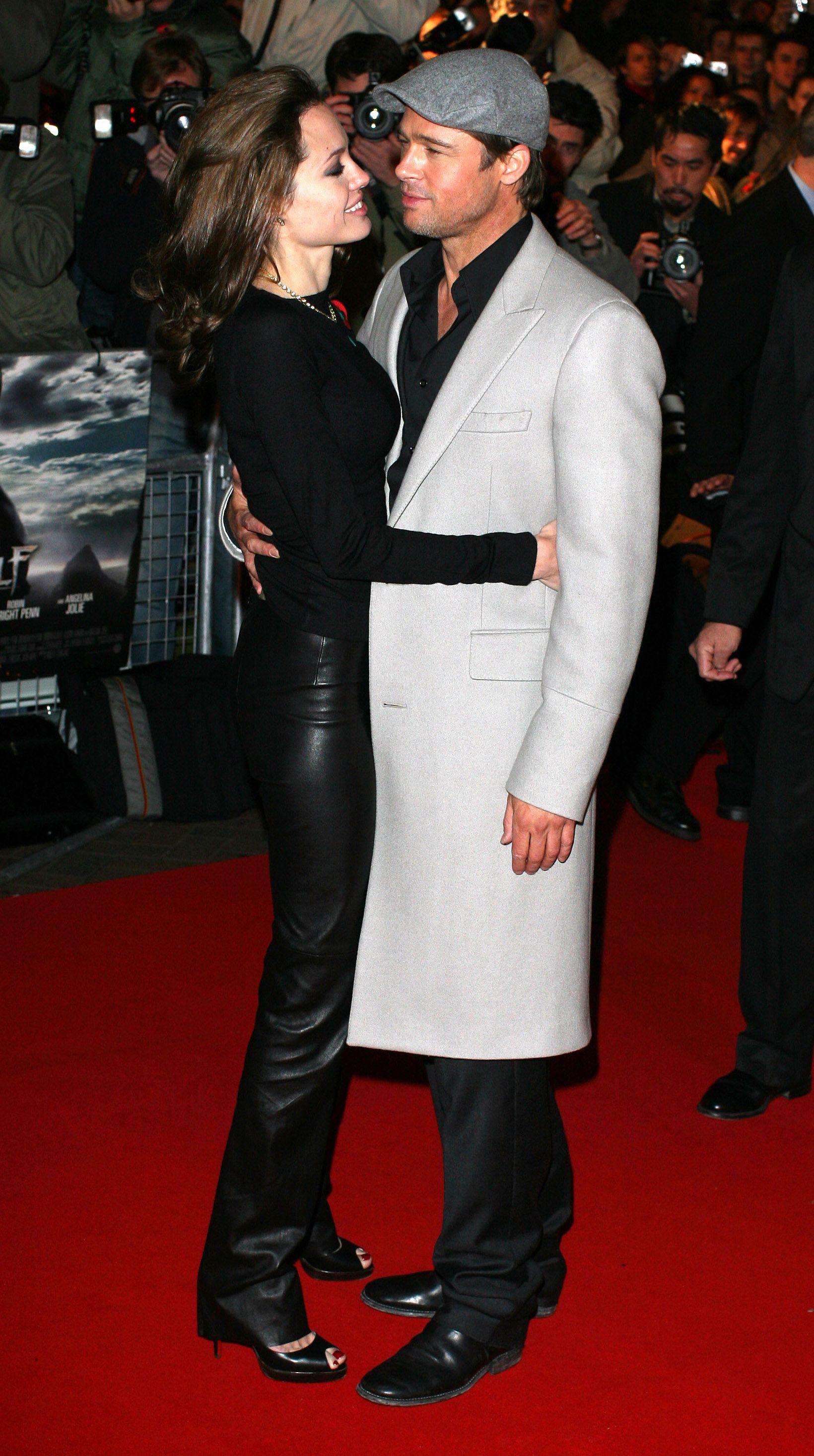 40 Times Brad Pitt And Angelina Jolie Were A Painfully Adorable Couple Angelina Jolie Brad Pitt And Angelina Jolie Angelina And Brad Pitt
