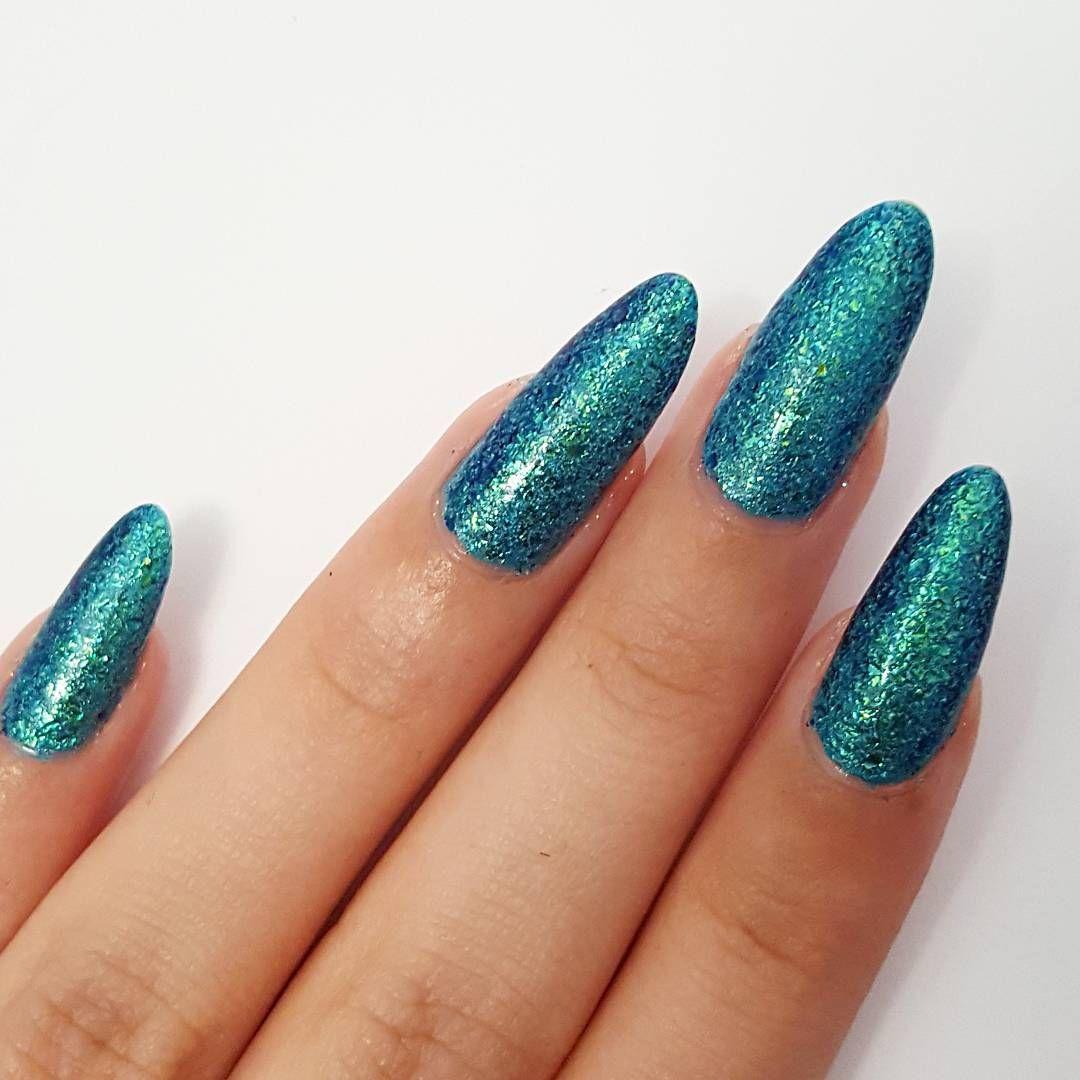 Stiletto nail art ideas design turquoise long nails