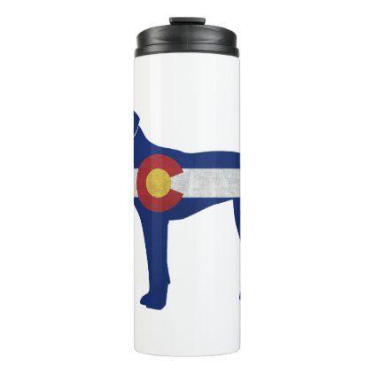 Plott Hound Dog Colorado Native Flag Thermal Tumbler   Zazzle.com