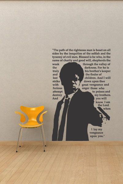 pulp fiction movie quote wall decal | fiction movies, quote wall