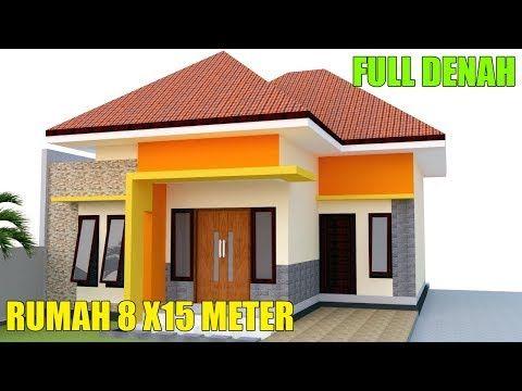 desain rumah modern minimalis 1 lantai 8 x15m 3 kamar