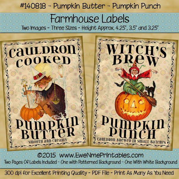 Farmhouse Labels - Pumpkin Punch - Pumpkin Butter