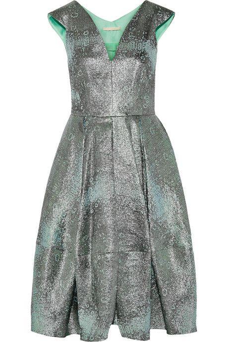 Antonio Berardi Metallic jacquard dress