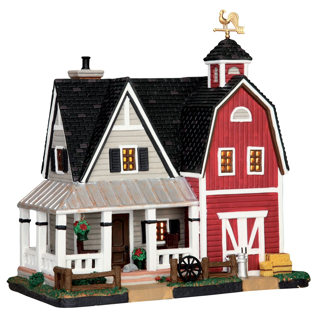 Lemax Farmhouse SKU 55951 Released in 2015 as a Lighted