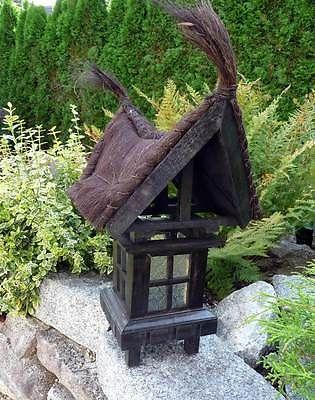 Asiatische Gartendeko xl exotisch aufwendig gartenle laterne pagode bambus teichdeko